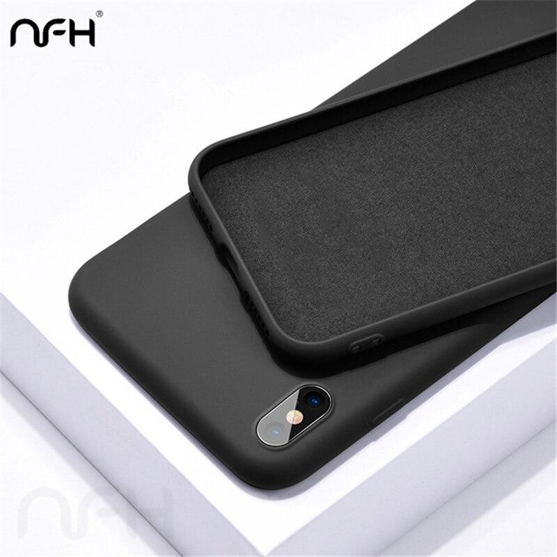 NFH Original funda de silicona líquida para Xiaomi rojo mi K20 Pro Redmi 7 Note 7 lindo Color sólido cubierta delgada en mi 6X mi X 2S mi x 3 funda