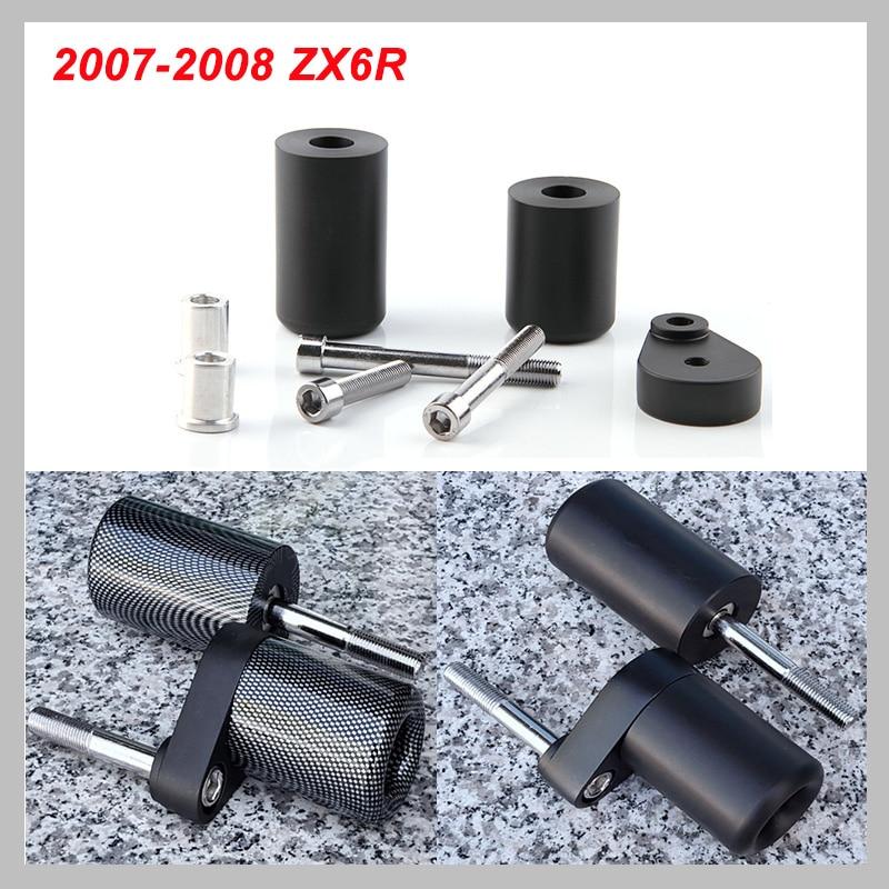 No Cut Frame Slider Pad For 2007-2008 Kawasaki Ninja ZX-6R ZX6R ZX 6R 636 2007 2008 Crash Falling Protection Motorcycle Parts