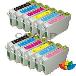 12 X Compatible ink cartridge for Epson R270/R290/R295/R390/RX590/RX610/RX615 T50 T59 TX700/TX800/TX710W/TX650 T0821 82N