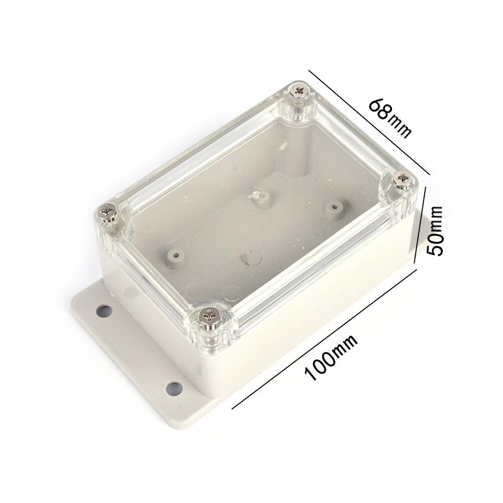 1 шт., 100*68*50 мм, маленький электронный корпус, прозрачный пластиковый корпус, водонепроницаемая распределительная коробка, распределительная коробка, DIY PLC Project Box