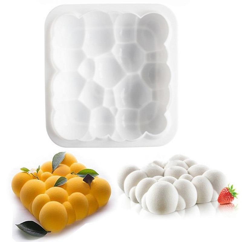 1 шт., силиконовая 3D форма для украшения торта с облаками неба, инструменты для выпечки шоколада, мусса, шифона, для кондитерских изделий, для ...