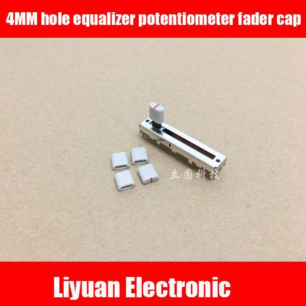 50 stücke 4mm loch equalizer potentiometer fader kappe kunststoff griff gerade rutsche potentiometer fader knob cap