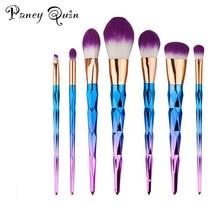 7pcs/set colorful makeup brushes pincel maquiagem Synthetic Fiber Rose Gold Powder Eyeshadow Makeup Brush kits for make up