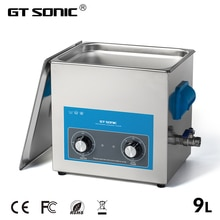 GTSONIC Ultrasonic Cleaner Bath 9L 200W 40kHz Metal Basket Engine Parts Moto/Auto parts Commercial Component Industry
