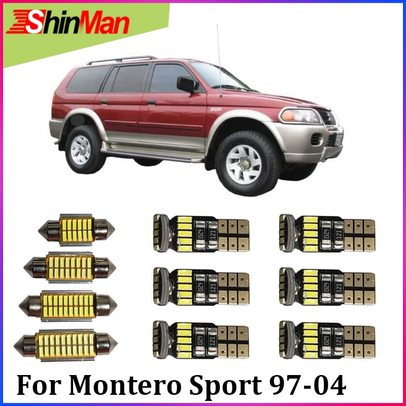 ShinMan 11x, luz LED Interior de coche, luz LED de coche para Mitsubishi Montero, deporte, juego de luz Interior LED 1997-2004