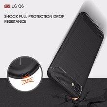 Чехол для LG Q6 G6, роскошный Ударопрочный Мягкий ТПУ чехол из углеродного волокна для LG V30 G7 Q7, тонкий защитный мягкий силиконовый чехол-кошеле...