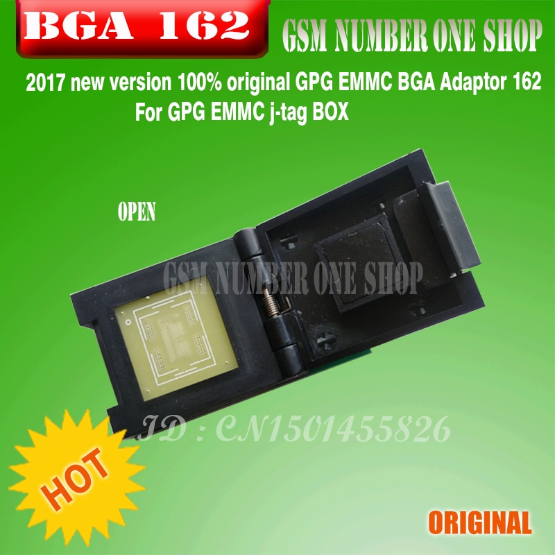 2017 new version 100% original GPG EMMC BGA Adaptor 162 For GPG EMMC j-tag BOX enlarge