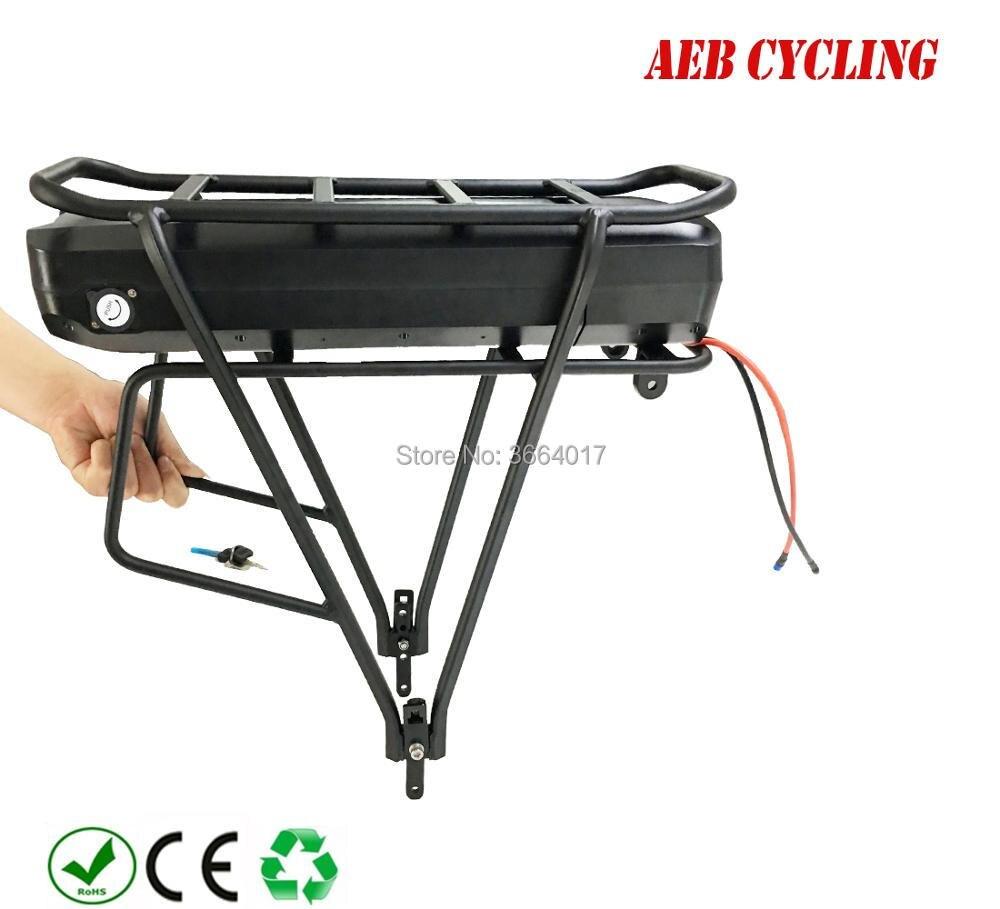 Free Shipping Jumbo rack battery 36V 25Ah 29Ah 32Ah 33Ah 35Ah luggage carrier Li-ion battery for city bike express ebike