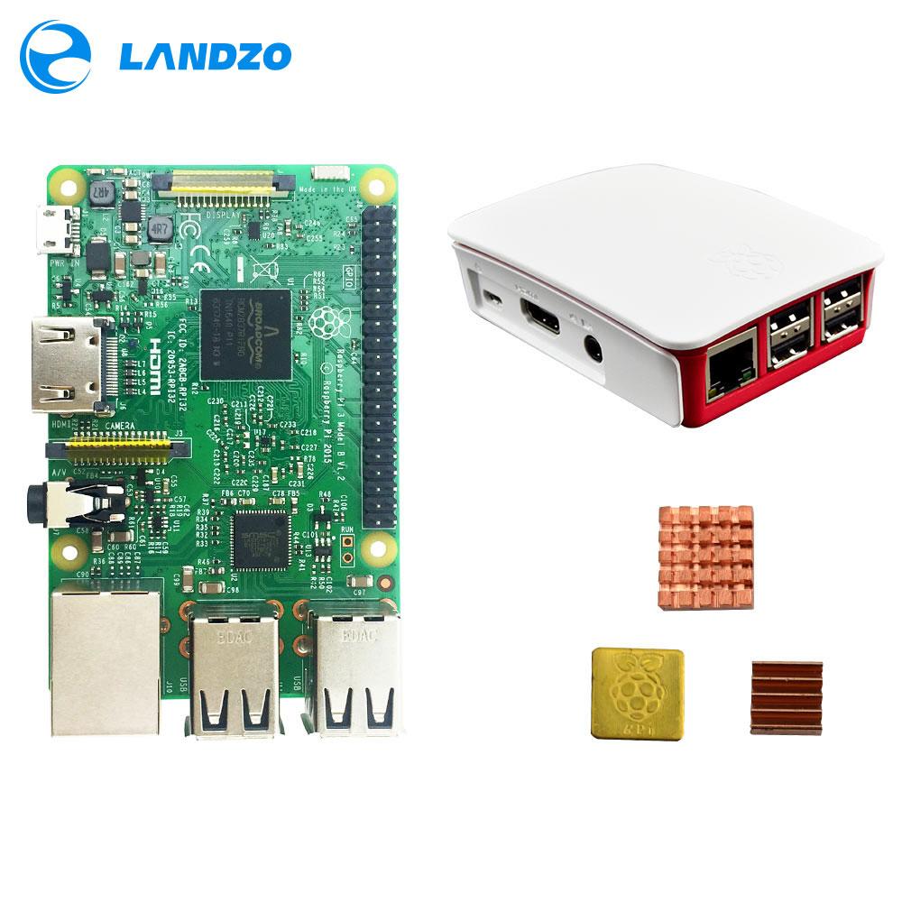 Raspberry Pi 3 Starter Kit with Raspberry Pi 3 Model B + original pi 3 case + Heatsinks pi3 b / pi 3b with wifi & bluetooth