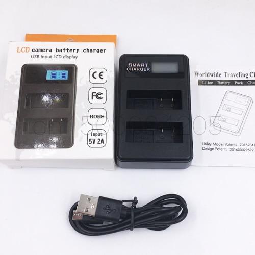 LCD Carregador Duplo para NP-FW50 Para Sony Alpha 6300 Alpha Alpha 6500 ILCE-QX1 7 7R 7R II 7 s a7R a7S a7R II a5000 a5100 a6000 a6300
