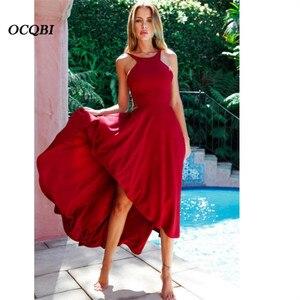 Plus Size 2019 Women Vintage Elegant Dress Sexy Party Night Bandage Backless Maxi Dress