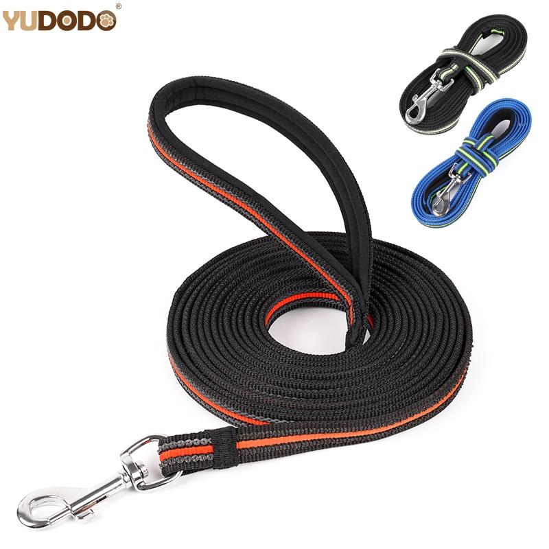 3M/5M/10M Pet Dog Chain Leash Products Accessories Nylon Anti-Skid Outdoor Training  Pet Lead Belt Soft Padded Handle Dog Leash