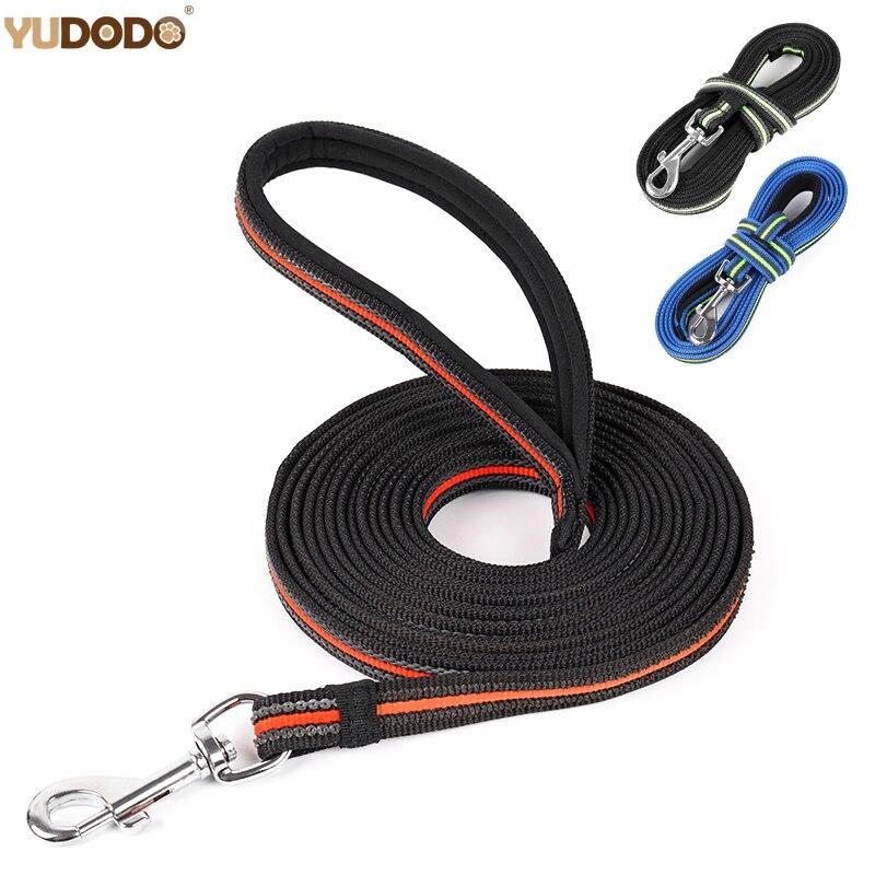 3M/5M/10M Long Dog Leashes Nylon Anti-skid Outdoor Tracking Training  pet Lead Belt Soft Padded Handle Medium Large Dog Leash