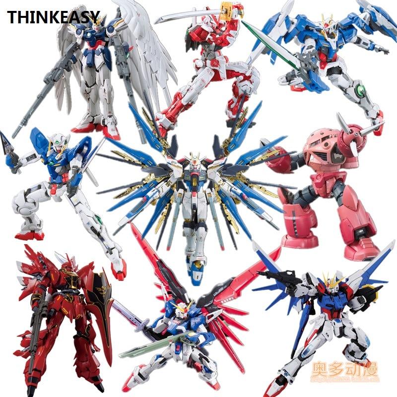 Bandai Original Gundam Model HGUC 1/144 Justice Freedom RX-78 UNICORN Destiny Armor Unchained Mobile Suit Kids Toys With Holder