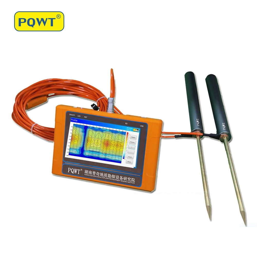 Detector de agua sin tierra de alta precisión PQWT-TC300 máquina detectora de agua subterránea multifunción portátil 300M