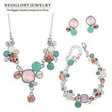 Neoglory Kristalle Zwei Farben Afrikanische Perlen Hochzeit Schmuck-Sets Für Frauen 2020 JS1 Verziert mit Kristallen von Swarovski