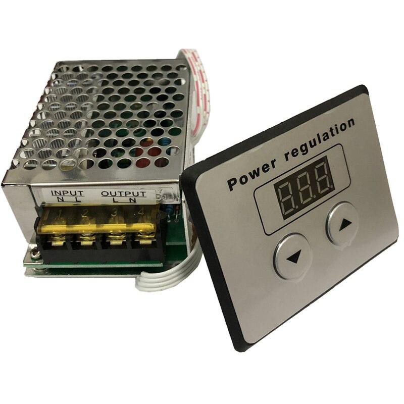100% nuevo 4000W tiristor regulador digital electrónico de alta potencia CNC regulación de velocidad termostato AC 220V módulo