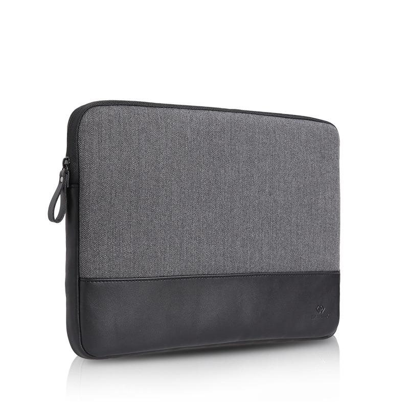 2017 funda para ordenador portátil de lana + cuero auténtico funda para ordenador portátil funda para 10,1 pulgadas Chuwi Hi10 Pro 2 en 1 bolsa para tableta PC