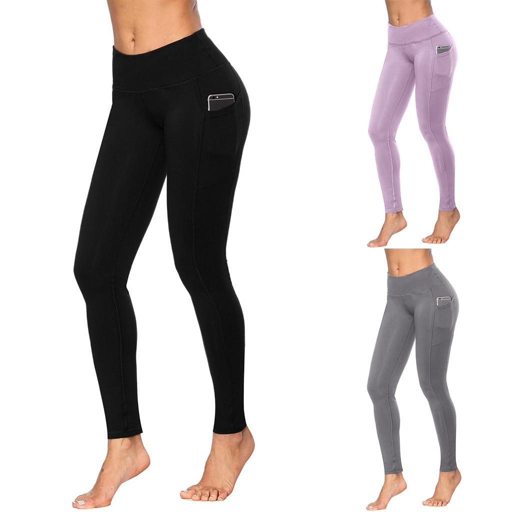 De cintura alta sin costura Leggings arriba Leggins deporte mujeres Fitness corriendo pantalones de Yoga de la energía sin polainas gimnasio Leggings de niña #4