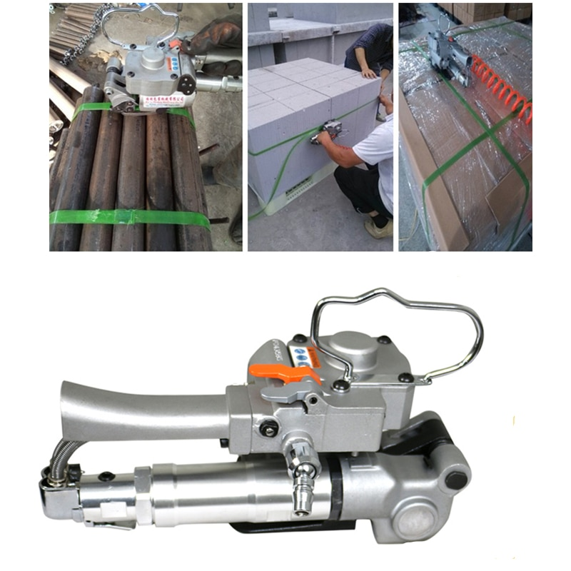 100% new xqd 25 plastic tensioning and friction welding pneumatic strapping tool pp pet strapping packing machine for 19 25mm Free Shipping !AQD-19 Pneumatic Strapping Tool With Friction Welding For 13-19MM PP/PET/Poly Strap Bander packing machine