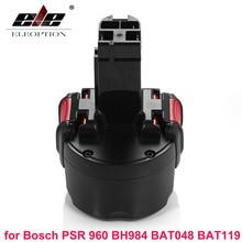 Eleoption bat048 9.6 v 2000 mah ni-cd bateria recarregável ferramentas elétricas para bosch psr 960 bh984 bat048 bat119