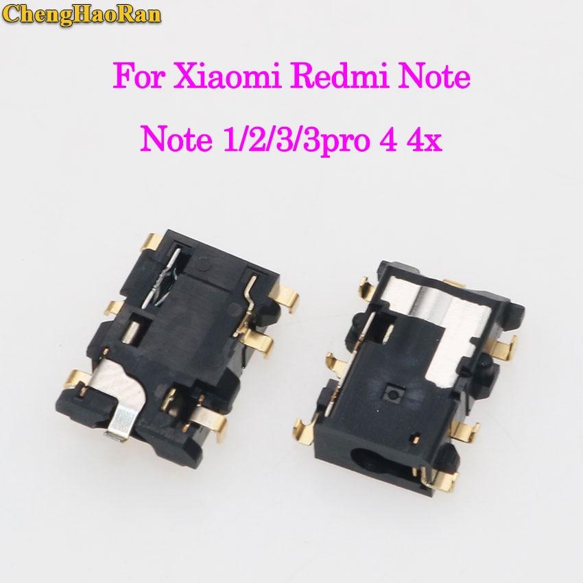 ChengHaoRan 1-5pcs Earphone Earpiece Headphone socket audio Jack for Xiaomi Redmi Note 1 2 3 4 4X Note3 pro prime/note 4 MTX X20