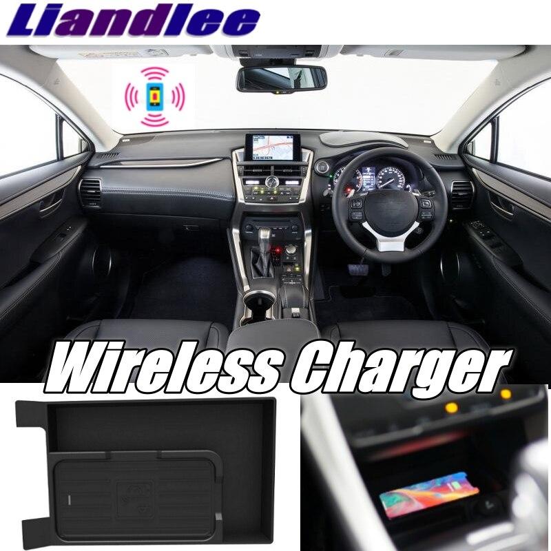 Liandlee coche inalámbrico teléfono Charg er reposabrazos compartimento de almacenamiento carga rápida qi para LEXUS NX NX200 AZ10