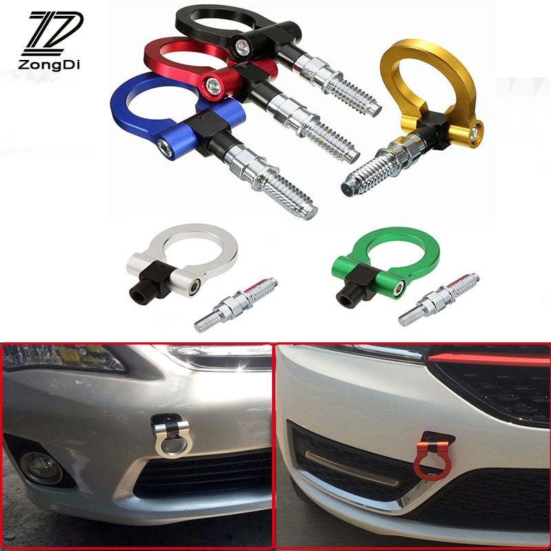 ZD Auto Auto Anhänger Ring Haken Abschleppen Aufhänger Für Volkswagen VW Polo Passat B5 B6 CC Golf 4 5 6 7 Touran T5 Tiguan Bora