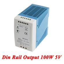 Din Rail-alimentation 100W 5V 20A   Alimentation à découpage, transformateur AC 110v/220v à 5v cc, watt, alimentation