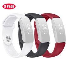 Bracelet Bracelet pour Fitbit Inspire/Inspire HR 2019 nouveau mode décontracté hommes bracelets de montre boucle ardillon Simple sport Silicone