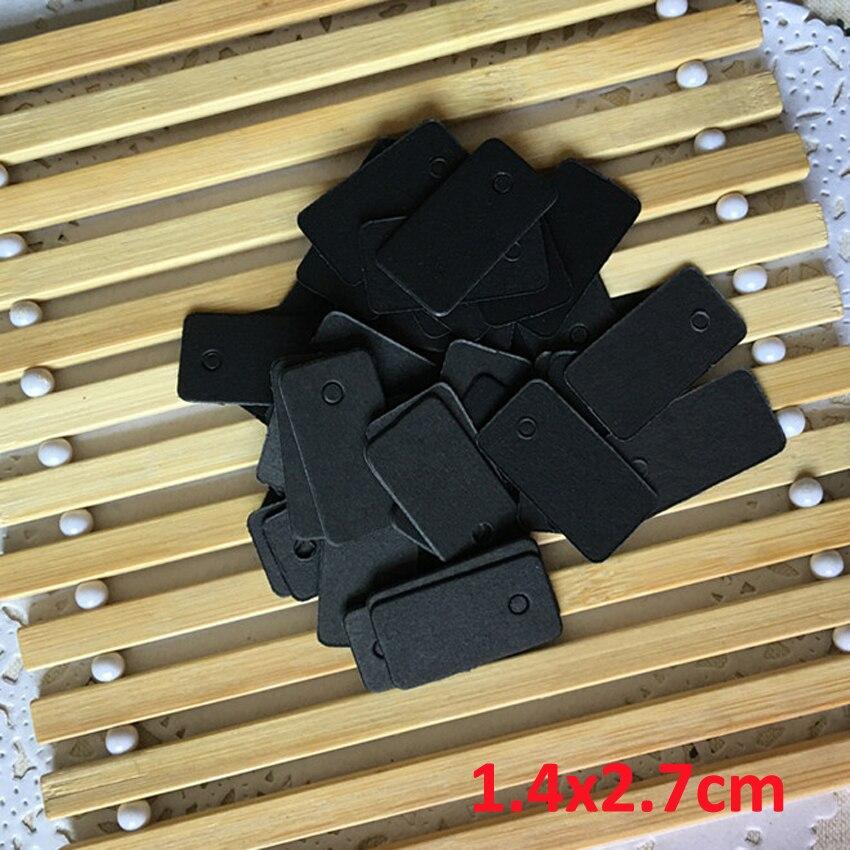 300 Uds 1/2/3/4/5/6/7 cm papel kraft cuadrado etiqueta pequeña/Etiqueta de ropa Tarjeta de papel en blanco/tarjeta de palabra/identificación hecha a mano soapTap