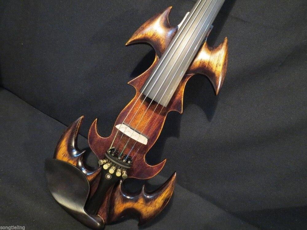 New model fancy SONG art streamline 5 strings 4/4 electric violin,solid wood enlarge