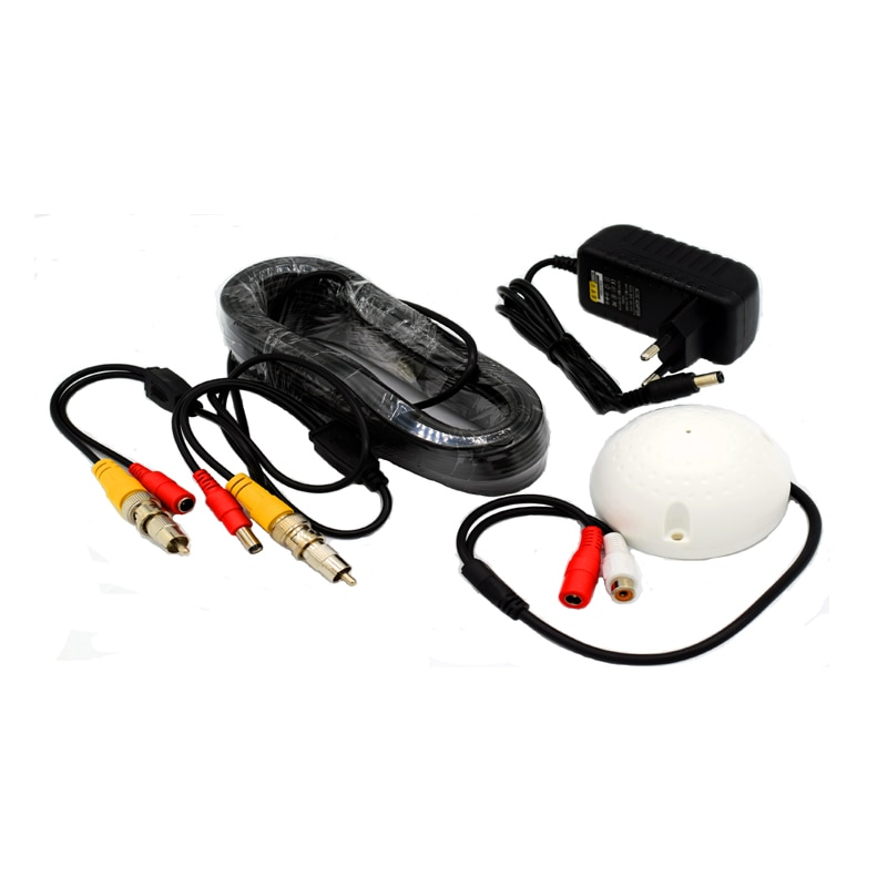 CCTV Cable High Sensitive Microphone Security Camera RCA Audio Mic DC Power Cable for Home Security System enlarge