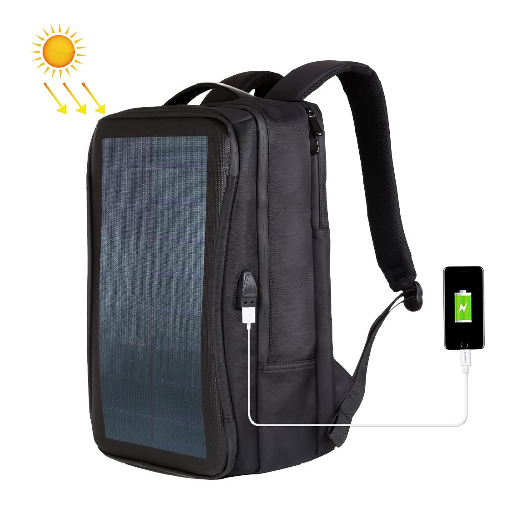 Haweel Flexible Solar Panel Backpacks Convenience Charging Laptop Bags for Travel 14W Solar Charger Daypacks &Handle &USB Port