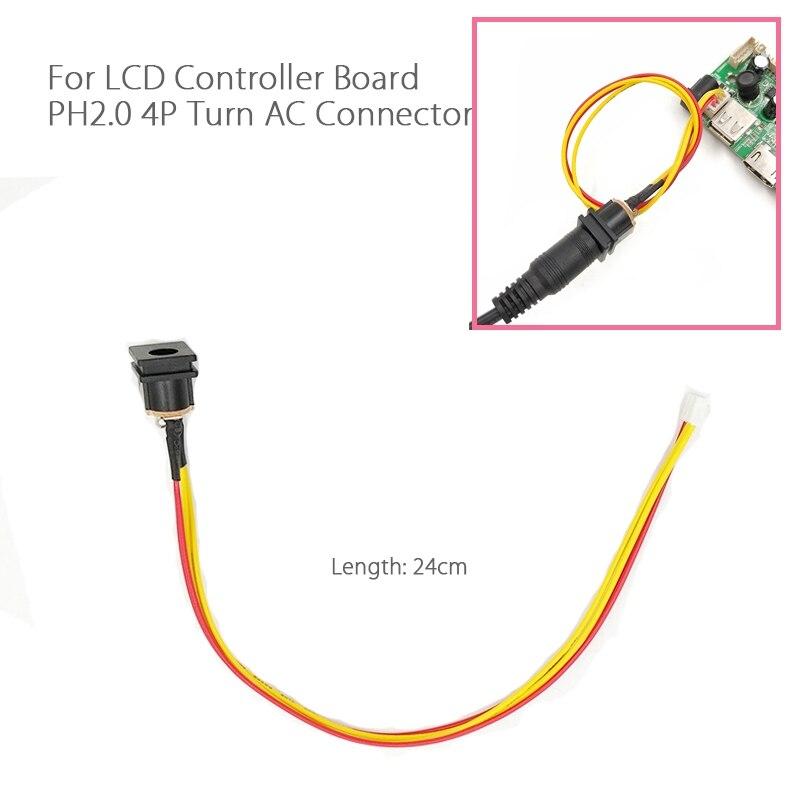 Кабель адаптера питания, разъем постоянного тока для 4Pin PH2.0 12В 12В GND 25 см для ЖК-дисплея светодиодный V29 V56 V59 3463 плата контроллера