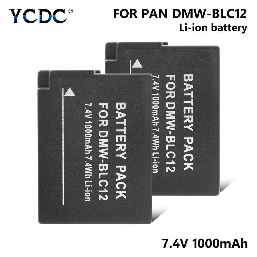 Batería recargable DMW-BLC12 DMWBLC12 para Panasonic DMC-FZ200 FZ300 G5 G6 GH2 GX8 DMC-G5 DMC-G6, baterías de batería
