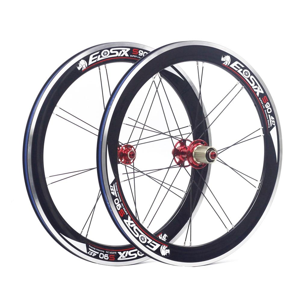 "Eiosix S90 20"" 1 1/8"" 451 Alloy Mini Velo Wheels 100mm 74m 130mm V Caliper Brake 22"" For Folding Bike Minivelo Bicycle Wheels"