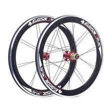 """Eiosix s90 20 """"1 1/8"""" 451 합금 미니 velo 바퀴 100mm 74 m 130mm v 캘리퍼스 브레이크 22 """"접이식 자전거 minivelo 자전거 바퀴"""