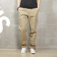 Men's casual pants loose multi-pocket trousers overalls male models Four Seasons men pants