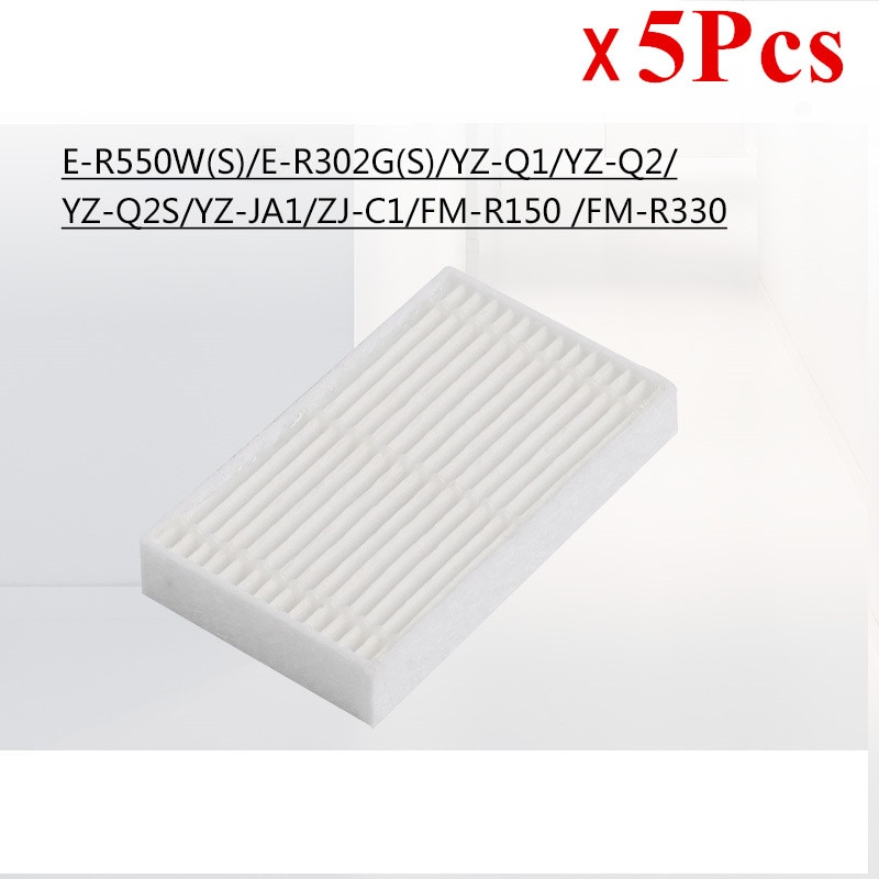 5pcs Robot Hepa Filter Replacement for Fmart E-R302G(S)/E-R550W(S)/YZ-Q1/YZ-Q2/FM-R150/T26 Robot Vacuum Cleaner Parts Filters
