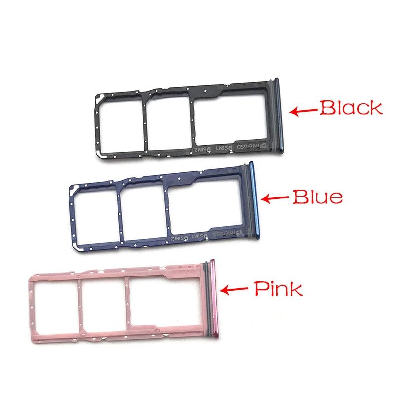2 unids/lote Micro Nano soporte para tarjeta SIM bandeja adaptador de soporte de ranura para Samsung galaxy A9 (2018) A920 A920F