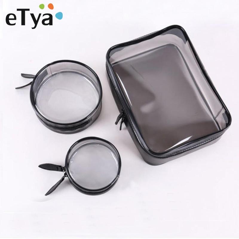 eTya Travel Women Transparent Cosmetic Bag Fashion Small Large Clear PVC Makeup Bag Beauty Case Bath Wash Organizer Zipper Pouch