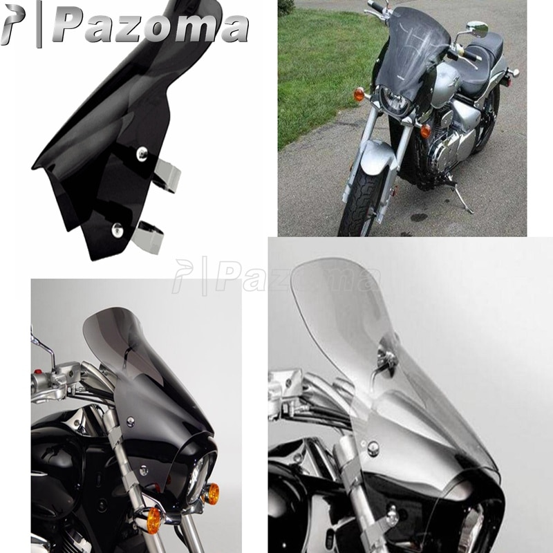 Cruisers Smoky Windscreen Motorcycle Windshield Windscreen For Suzuki Boulevard M109R R2 RZ M50 M90 2006-2016