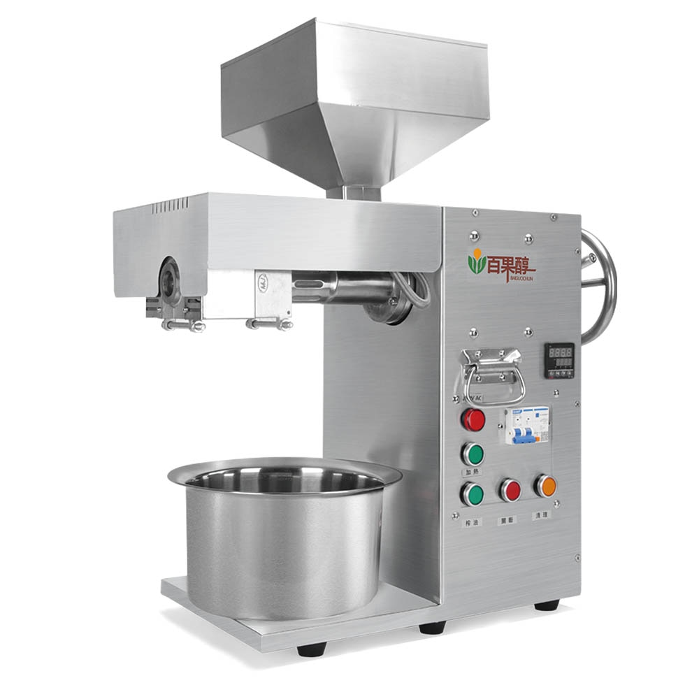 Mini prensa de aceite de sésamo negro frío/Extractor de aceite de semilla/pequeña máquina de extracción de aceite de coco frío