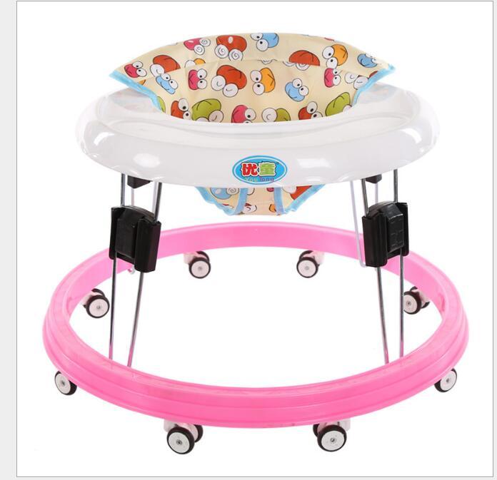 Máquina de dobramento do caminhante do bebê da escola das crianças da criança do carro, meses walker, anti rollover aprendizagem sentar-se para meninas