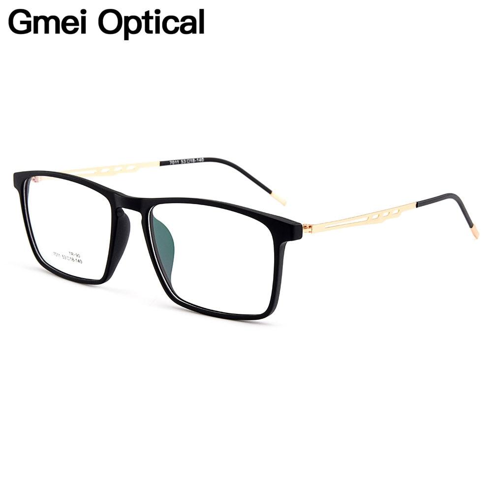 Gmei Optical Urltra-Light Square Full Rim Men Optical Eyeglasses Frames Women's Mixed Material Myopia Spectacles 3 Colors M7011