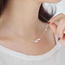 Jisensp mode longue chaîne colliers Zircon étoile pendentifs et colliers pour femmes bijoux Chokers bijoux collier collier de couleur