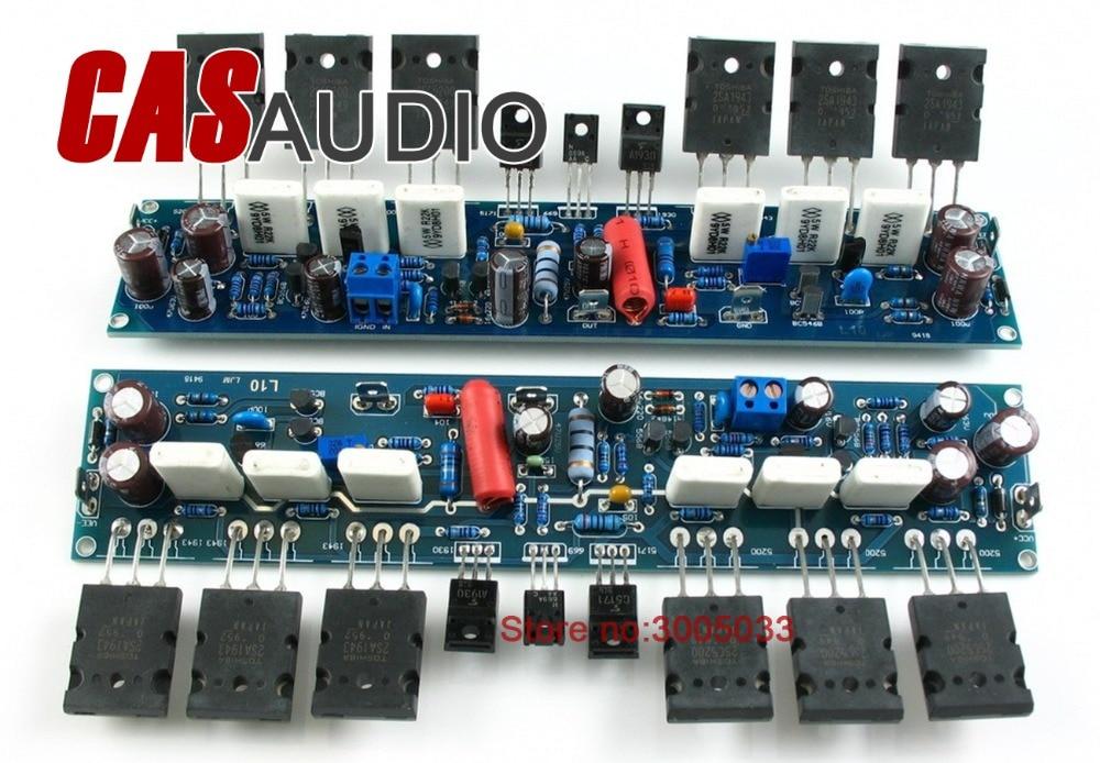 2 канала L10 усилитель мощности готовая плата транзистор amp плата A1943 C5200
