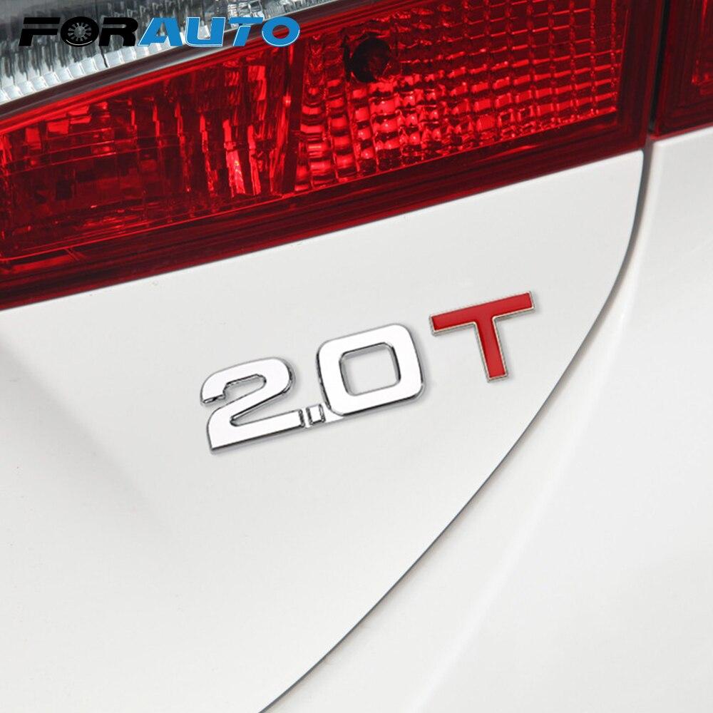 1,8 T 2,0 T emblema insignia cilindro de trabajo volumen logotipo coche pegatina parabrisas reflectante 3D Metal Universal Auto calcomanía