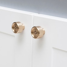 Altın düğme şekli pirinç topuzu dolap kapı topuzu ve kolları dolap kapı dolap çekmece mobilya donanım
